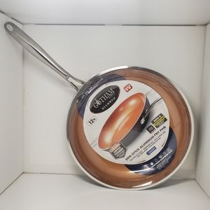 "Nonstick 12"" ceramic copper fry pan"